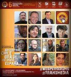Conferencistas del 6° Foro Internacional de #Periodismo Digital y 1° Encuentro Internacional de Narrativas #Transmedia.