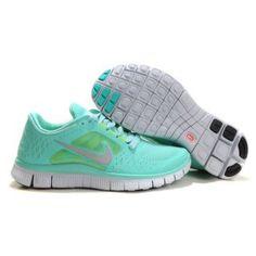 half off d19a9 15ae5 Billig Replica 2012 Dame Nike Free Run 3 Blå Grå Running Nike, Nike Free Run