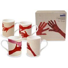 Louise Bourgeois Bone China Mug Set ($68) ❤ liked on Polyvore featuring home, kitchen & dining, drinkware and bone china