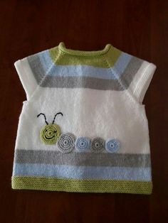 Baby vest – the Baby Boy Knitting, Knitting For Kids, Kids Knitting Patterns, Baby Patterns, Toddler Vest, Knitted Baby Clothes, Baby Cardigan, Baby Sweaters, Handmade Clothes