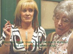 """Your mother will get progressively sluttier with age. 