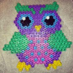 Owl perler beads by xpeachheart