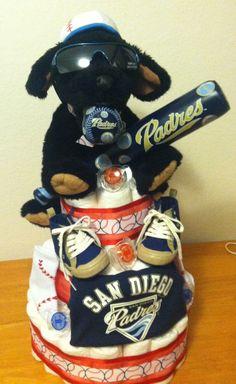 San Diego Padres Diaper Cake.
