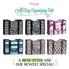 Get your's early! September special available on August 27th!! Spend $35 get the new All Day Organizing Tote for just $15!  www.MommaNeedsaNewBag.com