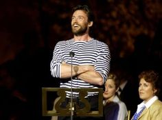 Hugh enjoying the applause Laura Movie, Broadway Stage, Hugh Jackman, Wolverine, Carousel, Logan, Eye Candy, Musicals, Handsome