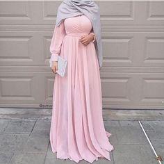 hijab, beautiful, and dress image Islamic Fashion, Muslim Fashion, Modest Fashion, Fashion Outfits, Style Fashion, Modest Dresses, Trendy Dresses, Beautiful Hijab, Beautiful Dresses