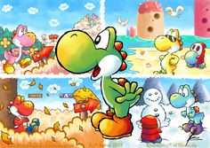 Fan Art of Yoshi's Island Seasons for fans of Yoshi 29260937 Super Smash Bros, Super Mario Bros Games, Super Mario Brothers, Super Mario All Stars, Super Mario World, Mario Bros., Mario And Luigi, Mario Party, Nintendo Characters