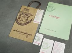 Agence Cécile Halley des Fontaines - Global design agency - Le Cèdre Rouge — gardeners' shop — green garden — branding — shopping bag