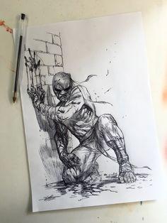 """Gabriele Dell'otto — """"Iron Fist"""" sketch"""
