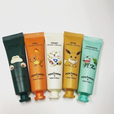 Look at these cute Pokemon hand creams!!! Got different scent also Jammanbo(lavender) Fairi(grapefruit) Togepi(lemon) Eevee(babypowder) Isanghessi(greentea)!!! - #tonymoly #handcream #pokemon #lemon #lavender #greentea #grapefruit #babypowder #eevee #isanghessi #togepi #fairi #jammanbo #fall # #kblossomlv #kbeauty