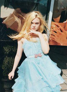 Elle Fanning in Oscar de la Renta Spring 2013 in W Magazine