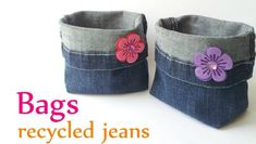 If you want to repurpose an old jean, I suggest that you make this adorable little denim bag or purse for little girls that they can use as desk organiser, or planter bag! All you need is : A Pair of jeans Scissors Sewing thread Embellishments