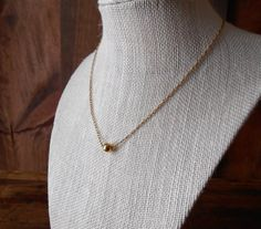 Vintage short gold metal chain with single gold by SchoolofVintage, $12.00
