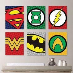 Superhero Wall Art superhero art prints // superhero decor // boys wall art
