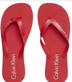 3ce229058af25c calvin klein flip flops NEW RED  fashion  clothing  shoes  accessories   womensshoes  sandals (ebay link)
