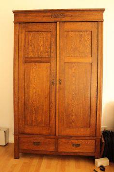 Restaurierter Kleiderschrank Gruenderzeit Um 1900 In Sehr Gutem