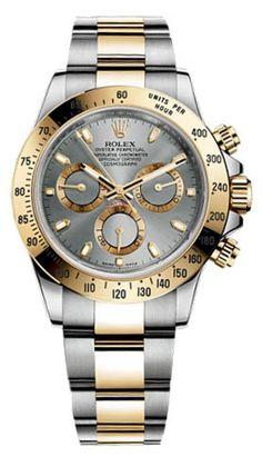 116523 grey dial Rolex Cosmograph Bicolor Daytona