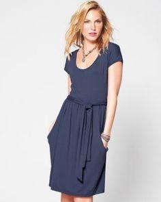 Modern Cap-Sleeve Knit Dress...so pretty