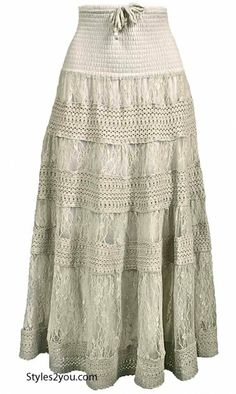 Celene Lace Skirt AND/OR Dress In Cream at Styles2you.com
