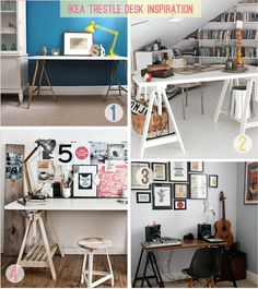 and then I realized I want to spray paint the trestles of my desk.