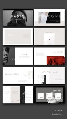 Basic PowerPoint Template is a simple presentation to show your project & ideas. This multi-purpose template might help you create presentation easily. Flat Design, Web Design, Graphic Design Layouts, Slide Design, Layout Design, Design Posters, Brand Presentation, Portfolio Presentation, Business Powerpoint Presentation