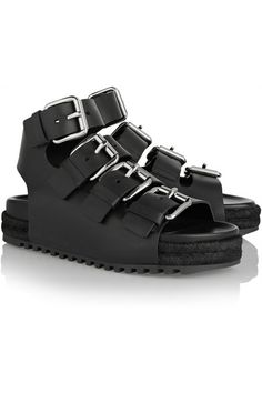 Black leather Buckle-fastening straps - Alexander Wang