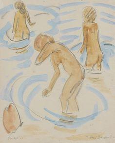 Erich Heckel - Three Bathers