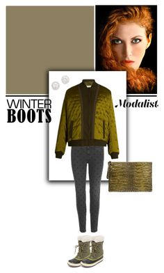 """""""Fashion in Winter Boots"""" by modalist ❤ liked on Polyvore featuring SOREL, STELLA McCARTNEY, Maison Margiela, Valentino and Kenneth Jay Lane"""