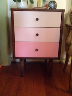 Pink Ombre Nightstand....so pretty!
