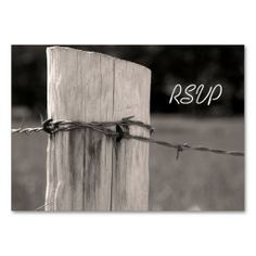 Rural Fence Post Country Wedding Response Card Business Card. This is a fully customizable business card and available on several paper types for your needs. You can upload your own image or use the image as is. Just click this template to get started!