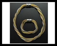 CABOUCHON JEWELLERY - Triple Snake Necklace With FREE Matching Bracelet