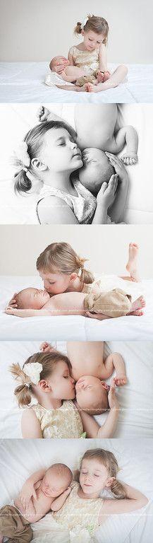 Newborn Studio Portraits - Newborn with sibling photos Baby Poses, Newborn Poses, Newborn Baby Photography, Newborn Session, Children Photography, Newborns, Photography Poses, Sweets Photography, Baby Sister Photography
