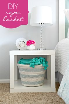 Dollar Store Crafts » Blog Archive » Make a Dyed Upholstery Rope Basket