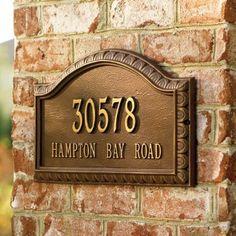 Penhurst Address Plaque - Aged Copper, Lawn - Grandin Road by Grandin Road… Mailbox Monogram, Diy Monogram, House Plaques, Garden Plaques, Bug Out Kit, Personalized Plaques, Aged Copper, Copper Wall, Address Plaque
