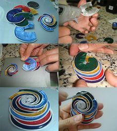 Ciondolo multicolore