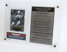 The perfect Andrew Ladd, Winnipeg Jets gift idea. This custom trading card display details the NHL career of the popular Jets captain. Visit the IconDisplays website for details!