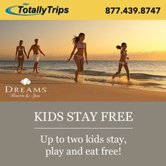 Up to two kids stay free with two paying adults at Dreams Resorts! Reserve your fall getaway at any Dreams Resort & Spa for travel August 2016 through December 2016 and from August 2017 through December Dreams Resorts, Cancun Resorts, December 22, Resort Spa, Fall, Kids, Travel, Autumn, Young Children