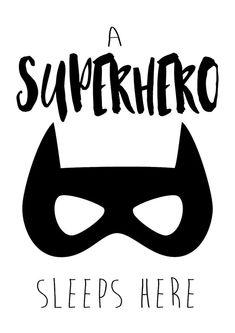 Superhero Nursery Print A Superhero Sleeps by TheKidsPrintStore