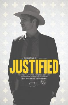 Justified TV Show Poster by sap41387 on Etsy, $15.00