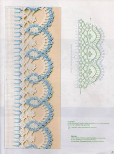 Check out the diagrams and learn to make more than 150 points, (crochet edgings) with images. There are several crochet borders that can be applied in various crochet projects. This post was discovered by HU Eliana Painting and Crochet: Crochet nozzles wi Crochet Border Patterns, Crochet Boarders, Crochet Lace Edging, Crochet Motifs, Crochet Diagram, Crochet Chart, Lace Patterns, Thread Crochet, Crochet Designs