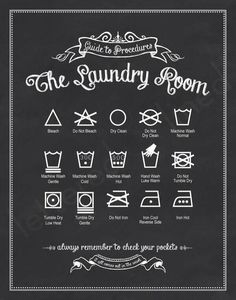 printables for laundry | Printable: Know your laundry signs