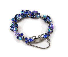 Stunning Blue Weiss Bracelet by rhinestonesrock on Etsy