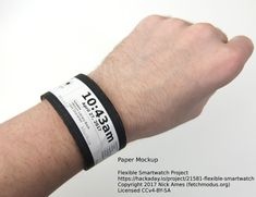 A thick flexible smart watch with e-ink display, BT and health sensors. Arduino Sensors, E Ink Display, E Textiles, Kids Electronics, Technology Articles, Telling Time, Fitbit Flex, Flexibility, Smart Watch