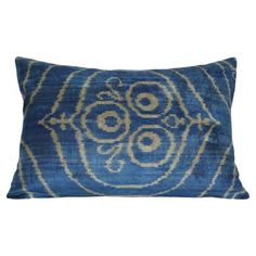 Check out this item at One Kings Lane! Rhea 16x24 Silk Pillow, Blue