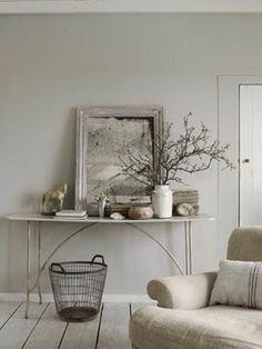 peinture grise et couleur lin pour le salon