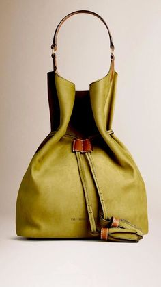 Burberry Large Suede/ Leather Ashby Hobo Bag. NEW. Sold Out. Color Is Olive NICE #Burberry #Hobo