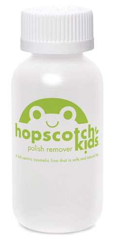 Plant or soy based nail polish remover.  Beats the heck out of what you normally find in nail polish remover.  So great to know there are safe options!  Thanks Hopscotch Kids!