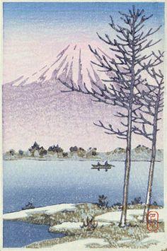 hanga gallery . . . torii gallery: Mt. Fuji from Lake Hakone by Kawase Hasui 1920
