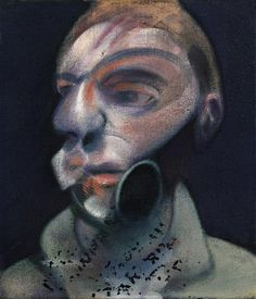 """""""Look at Cézanne, really look, and you realise that Cubism, as good as it is, is perhaps only a kind of decoration on Cézanne's work and ideas.""""  .  'Self-Portrait', 1975. Francis Bacon. Oil on canvas."""