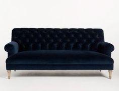 Genova Sofa, Indigo - traditional - sofas - H.D. Buttercup